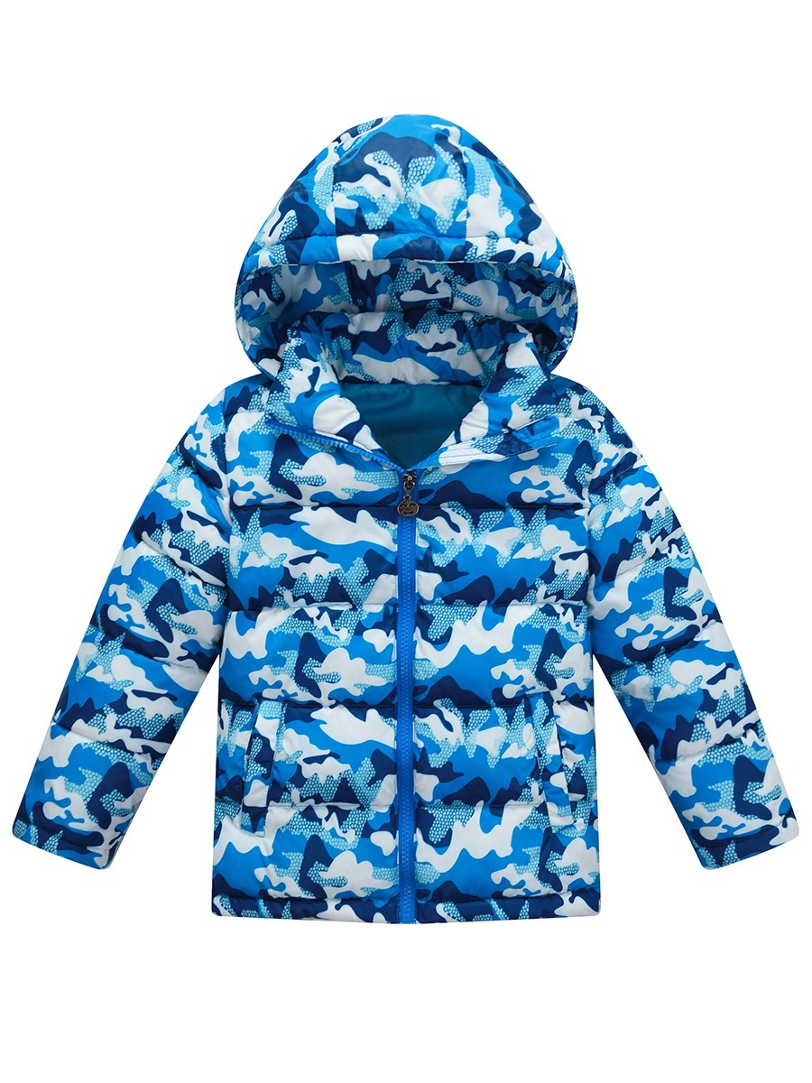 Ericdress Camouflage Hooded Thick Warm Unisex Winter Down Jacket