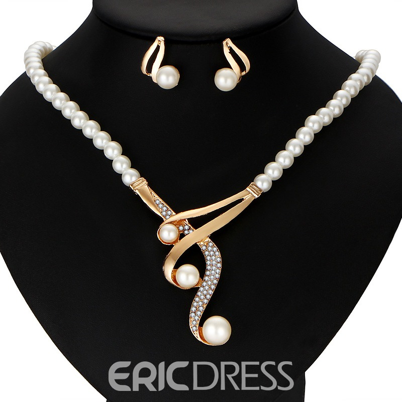 Ericdress High Quality Imitation Pearl 2-Piece Jewelry Set for Women