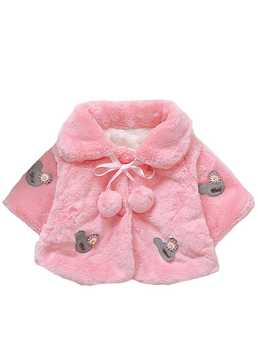 Ericdress Lapel Thick Short Baby Girl's Outerwear