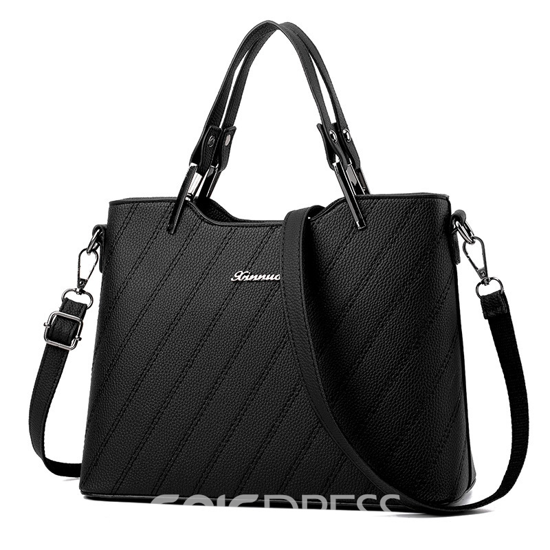 Ericdress Concise Huge Space Zipper Women Handbag