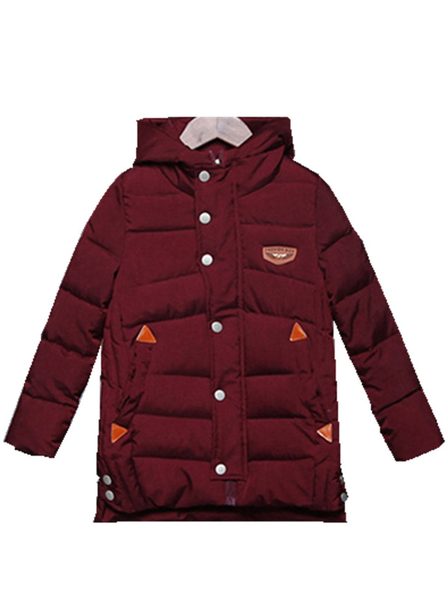 Ericdress Hooded Single-Breasted Zipper Mid-Length Boy's Winter Coat