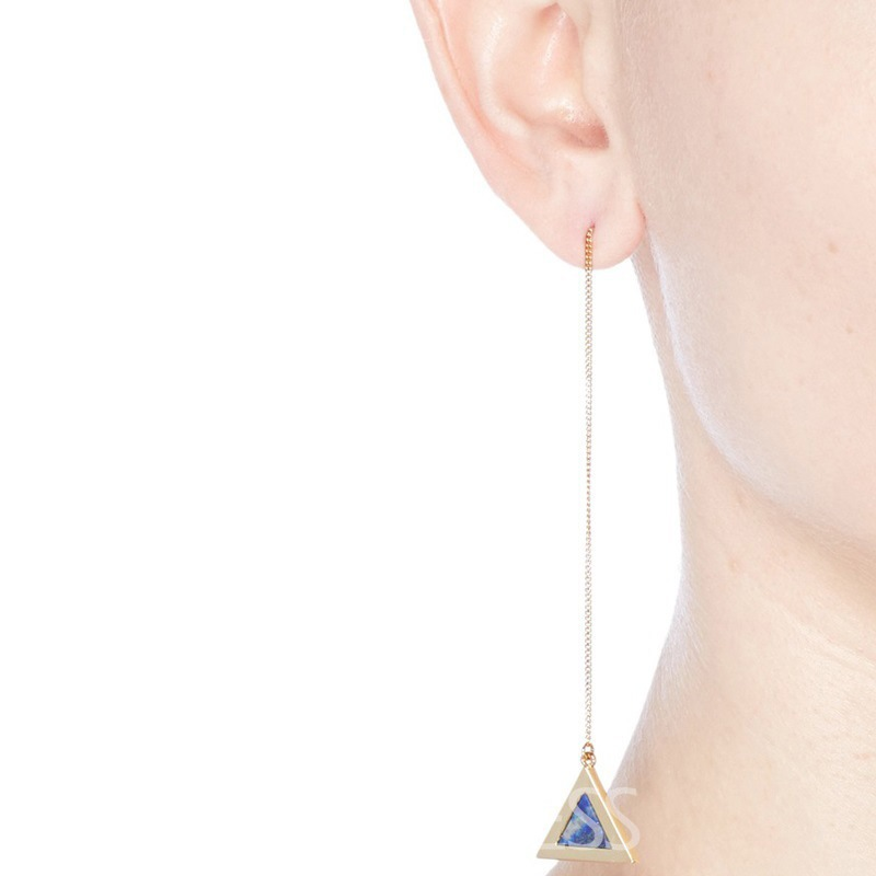 Ericdress Fashionable Sapphire Triangle Pendant Women's Earring