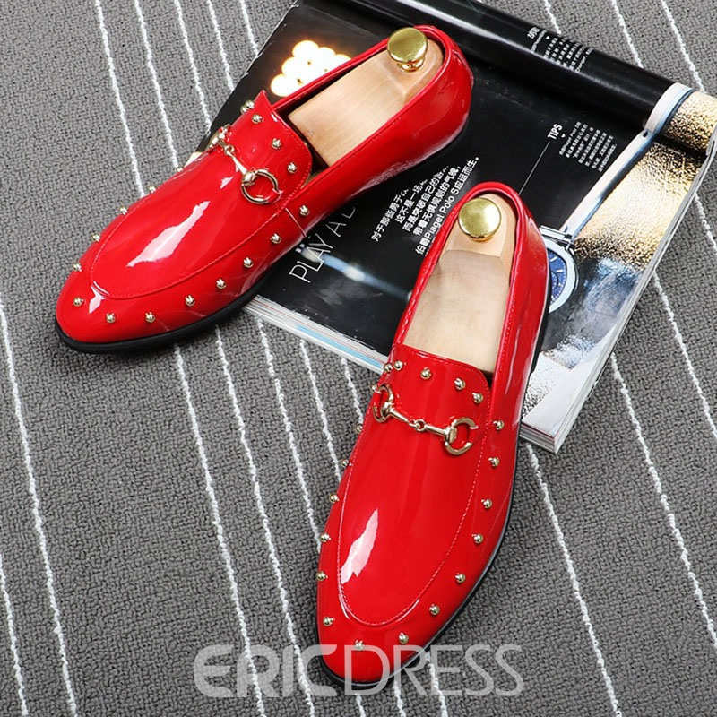 Ericdress Trendy Rivet Slip-On Men's Oxfords
