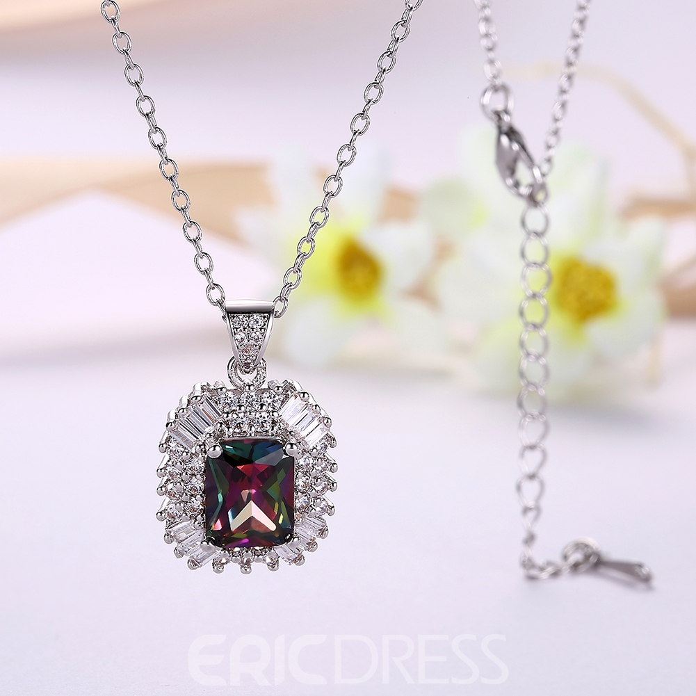 Ericdress All Match Zircon Inlay Women's Pendant Necklace