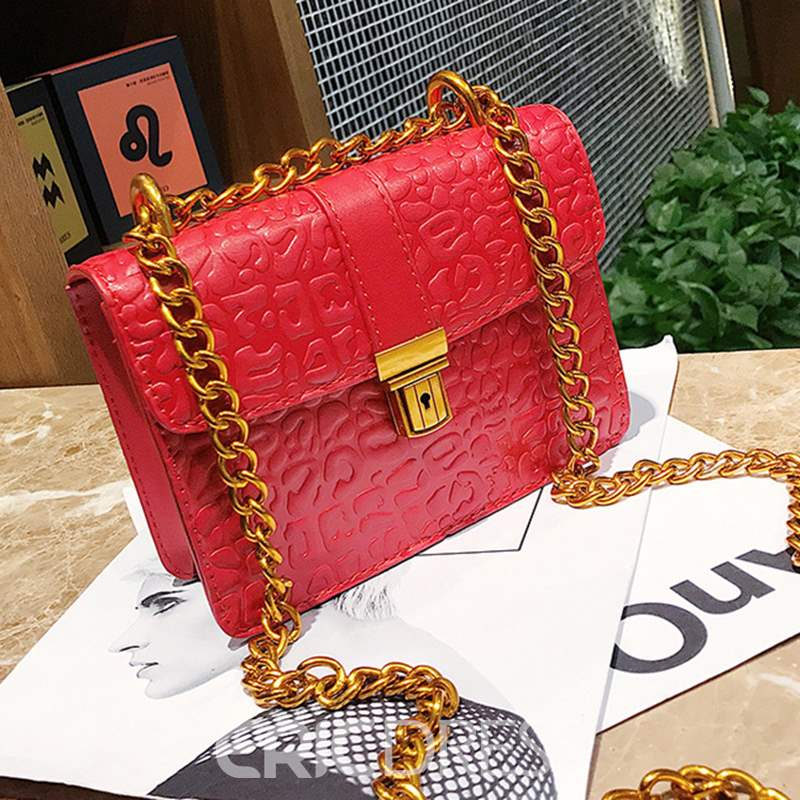 Ericdress Vintage Embossing Chain Mini Crossbody Bag