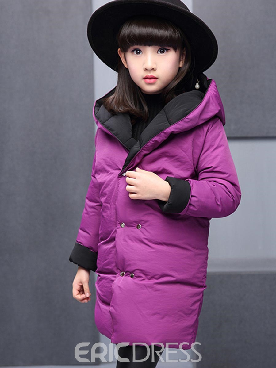 Ericdress Plain Double Breasted Thick Reversible Winter Jacket