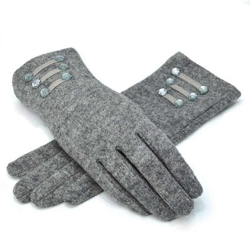 Ericdress Pure Color Warm Cashmere Women's Gloves