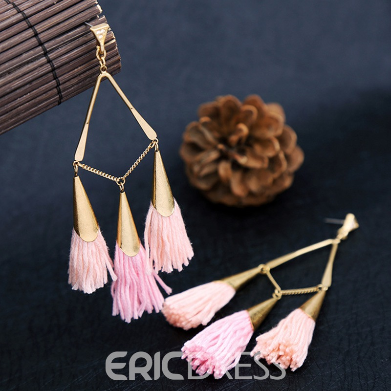 Ericdress Trendy Personal Alloy Women's Tassel Earring