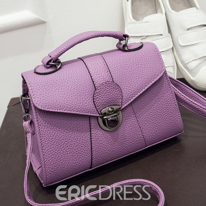 Ericdress Lichee Pattern Solid Color Crossbody Bag