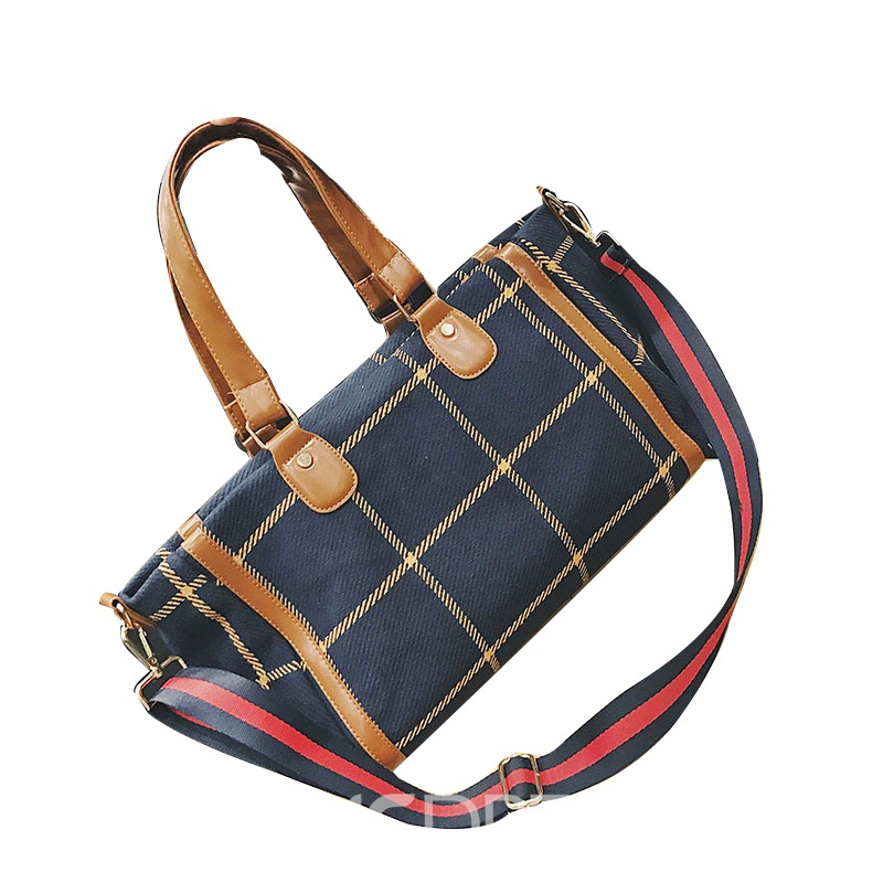 Ericdress High Capacity Plaid Pattern Shoulder Bag