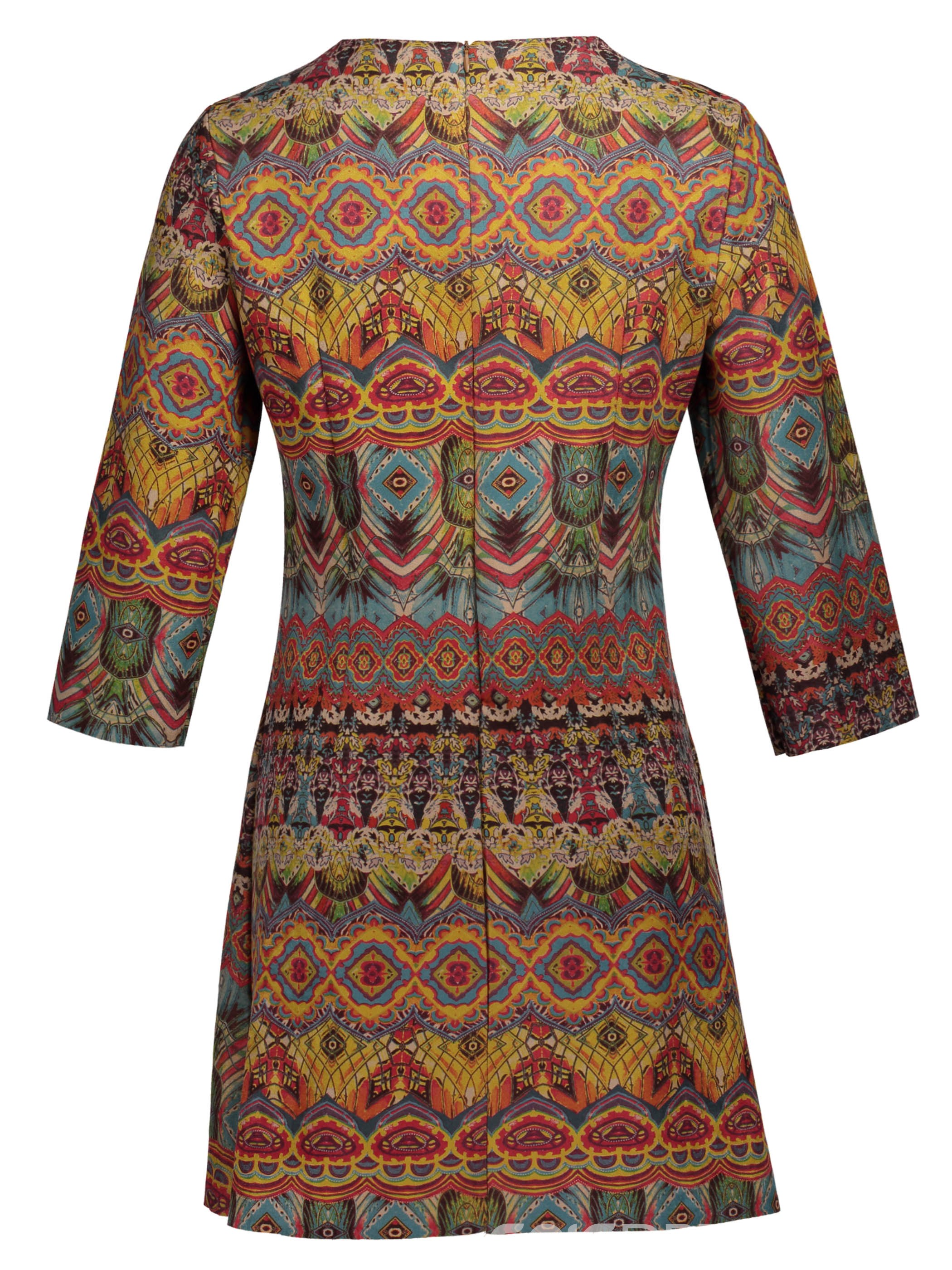 Ericdress Ethnic Lace-Up 3/4 Length Sleeves A-Line Dress