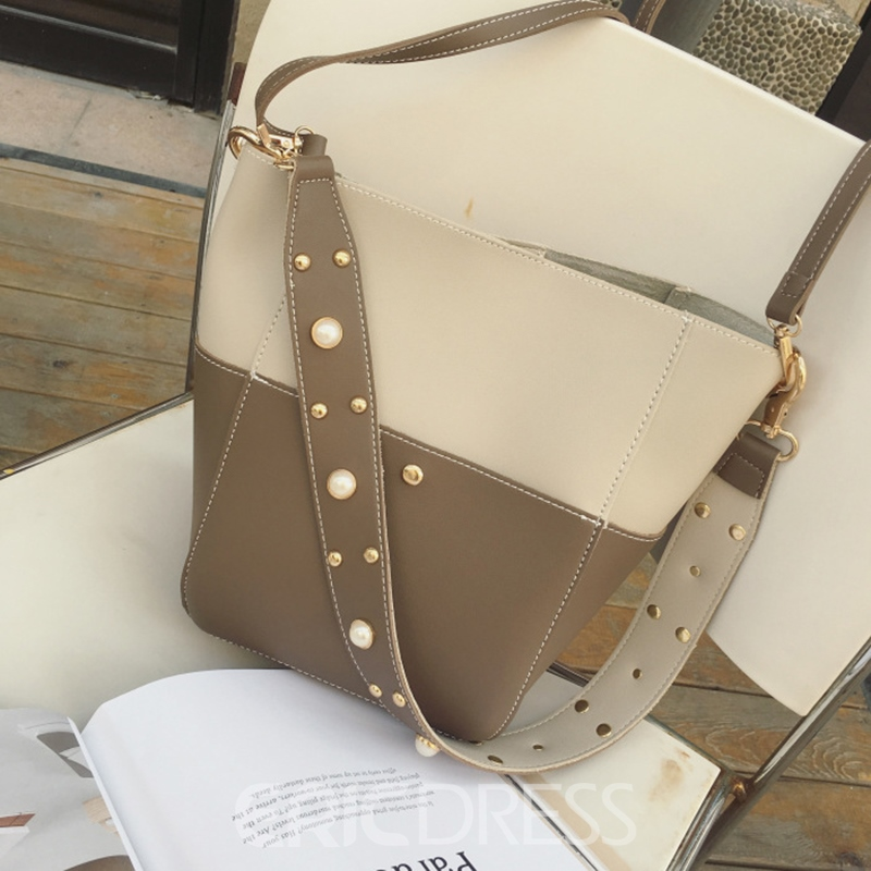 Ericdress Casual Pearl Decoration Strap Crossbody Bag
