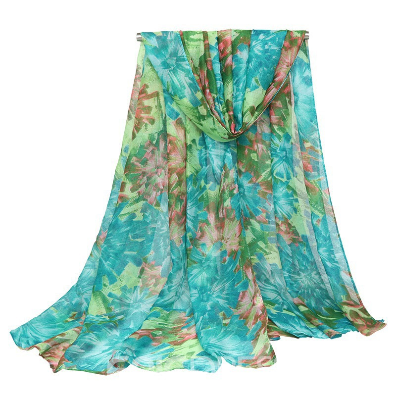 Ericdress Exquisite Cotton Floral Voile Women's Scarf