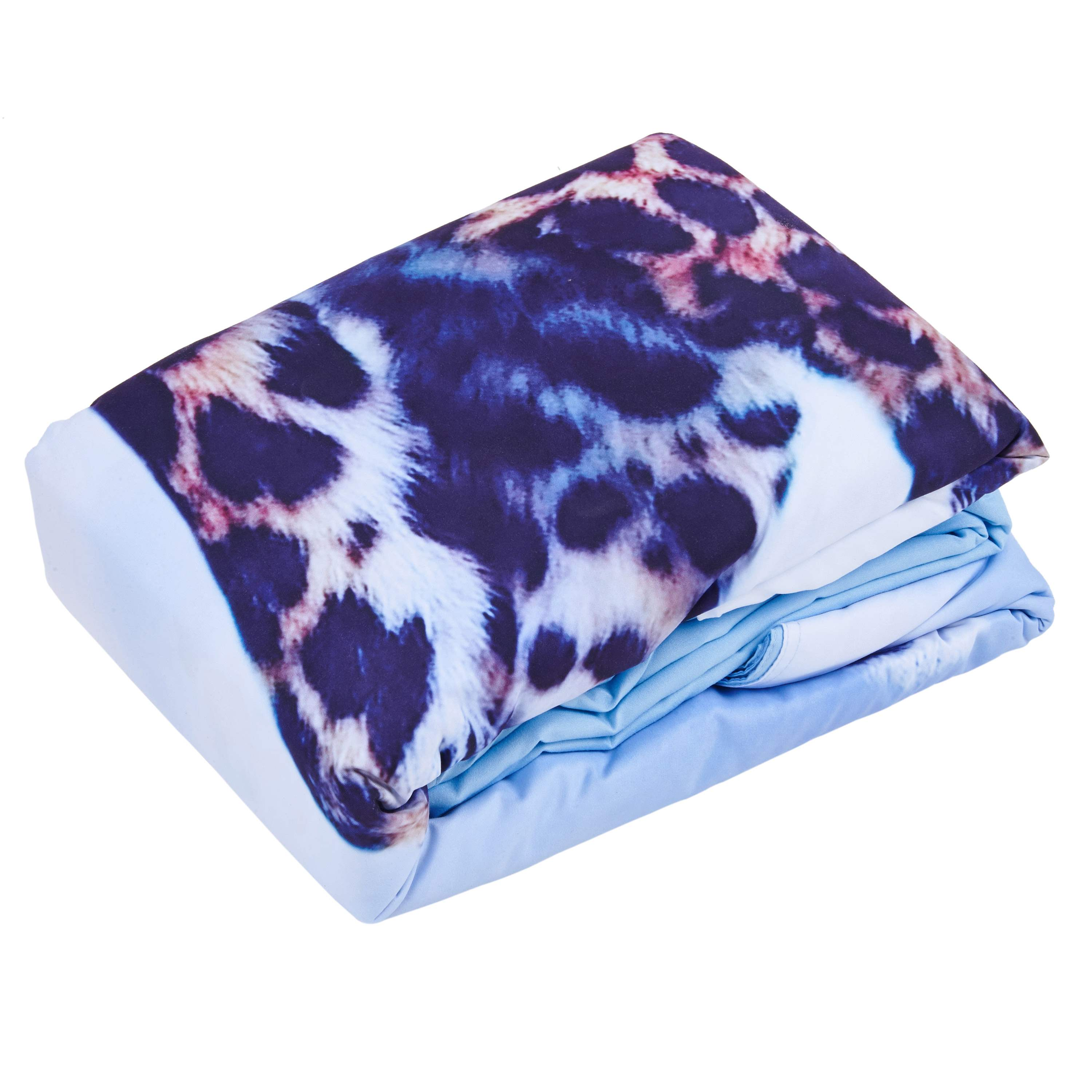 Vivilinen 3D Leopard with Blue Sky and White Clouds Printed 4-Piece Bedding Sets