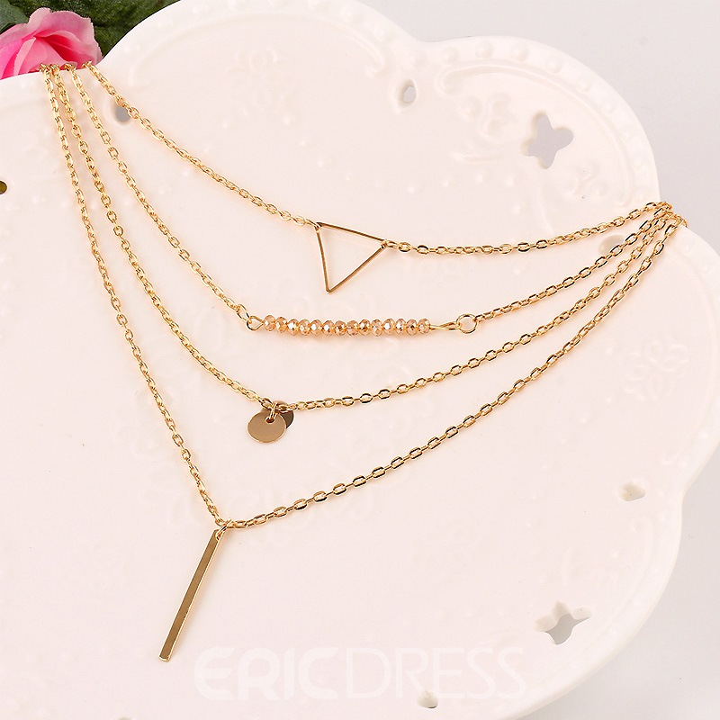 Ericdress Fashionable Anti-Allergy Multilayer Choker Necklace