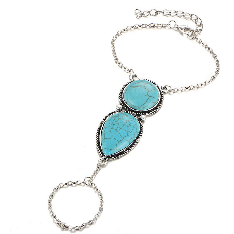 Ericdress Bohemia Style National turquoise Joint Bracelet for Women