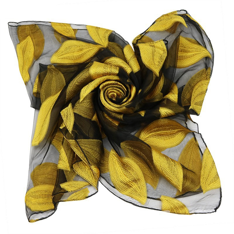 Ericdress High Quality Organza Leaf Printed Women's Scarf