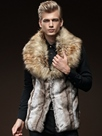 Ericdress Faux Fur Lapel Vogue Slim Men's Vest
