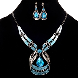 Ericdress Luxurious Sapphire Waterdrop Jewelry Set фото