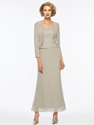 Ericdress Beaded Ankle-Length Mother of The Bride Dress with Jacket