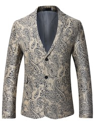 Eridress Notched Lapel Print Vogue Slim Mens Blazer