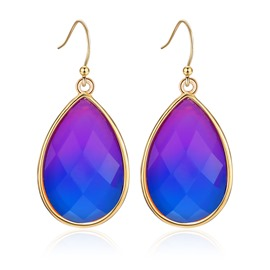 Ericdress Ultra Violet Drop Earring for Women