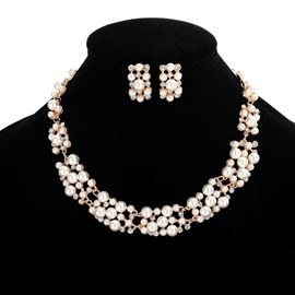 Ericdress Best Selling Imitation Pearl Wedding Jewelry Set for Bride