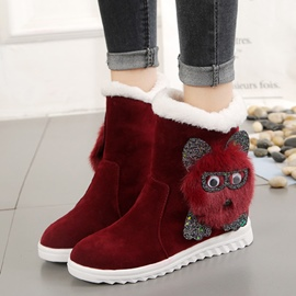 Ericdress Lovely Animal Slip-On Women's Snow Boots