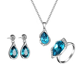 Ericdress Three-Piece Sapphire Inlay Wome's Jewelry Set
