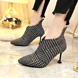 Ericdress Fashion Cloth Stiletto Heel Ankle Boots