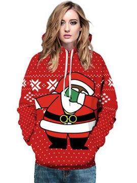 Ericdress Loose Santa Claus Ugly Cool Hoodie