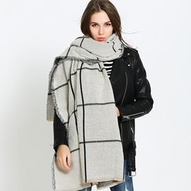 Ericdress Stylish Grid Imitation Cashmere Women's Scarf