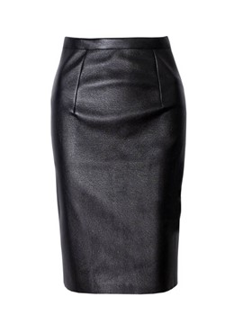 Ericdress Knee-Length Bodycon Plain Women's Skirt
