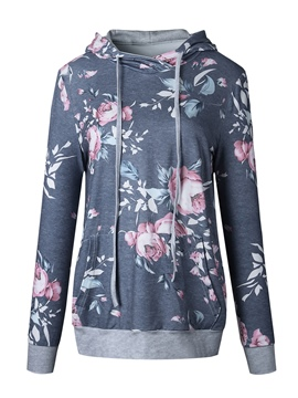 Ericdress Thin Floral Print Cool Hoodie