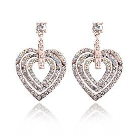 Ericdress Hot Diamante Heart Party Earring for Women