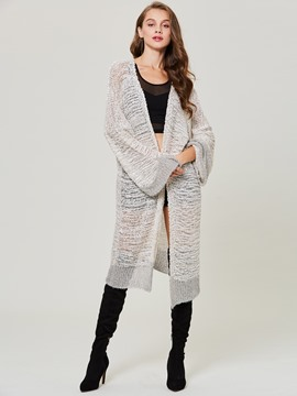 Ericdress Loose Mottled Long Cardigan Women's Knitwear