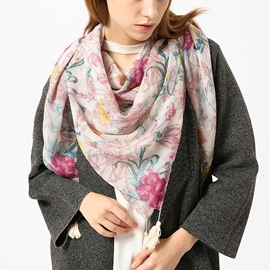 Ericdress Floral Printed Women's Scarf
