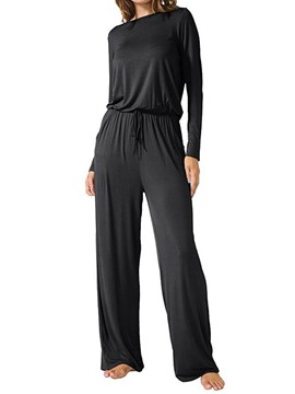 Ericdress Loose Full Length Wide Leg Lace-Up Women's Jumpsuit
