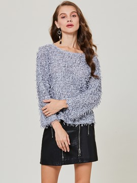 Ericdress Loose Round Neck Pullover Sweater
