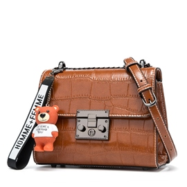 Ericdress Croco-Embossed Latch Women Crossbody Bag