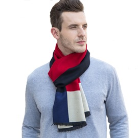 Ericdress Imitation Cashmere Contrast Color Men's Scarf