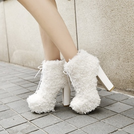 Ericdress New Style Platform Plain High Heel Boots