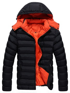 Ericdress Hooded Thicken Plain Men's Winter Coat