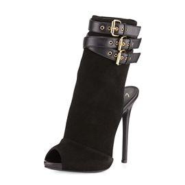 Ericdress Hasp Peep Toe Plain High Heel Boots