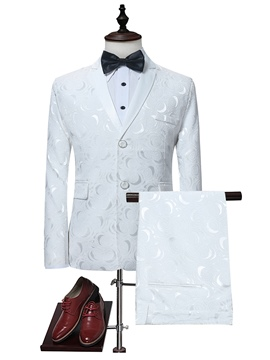 Ericdress Blazer Print Plain Mens Dress Suit