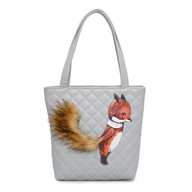 Ericdress Squirrel Prints Quilted Lining Women Shoulder Bag
