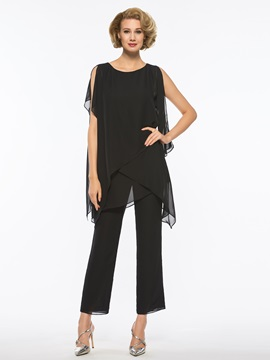 Ericdress Scoop Chiffon Mother of The Bride Jumpsuit