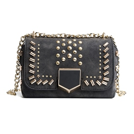 Ericdress Fashion Rivet Decoration Chain Crossbody Bag