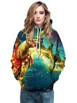 Ericdress Loose Christmas Thick Ugly Cool Hoodie