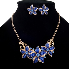 Ericdress All Match Fancy Flower Diamante Jewelry Set for Women